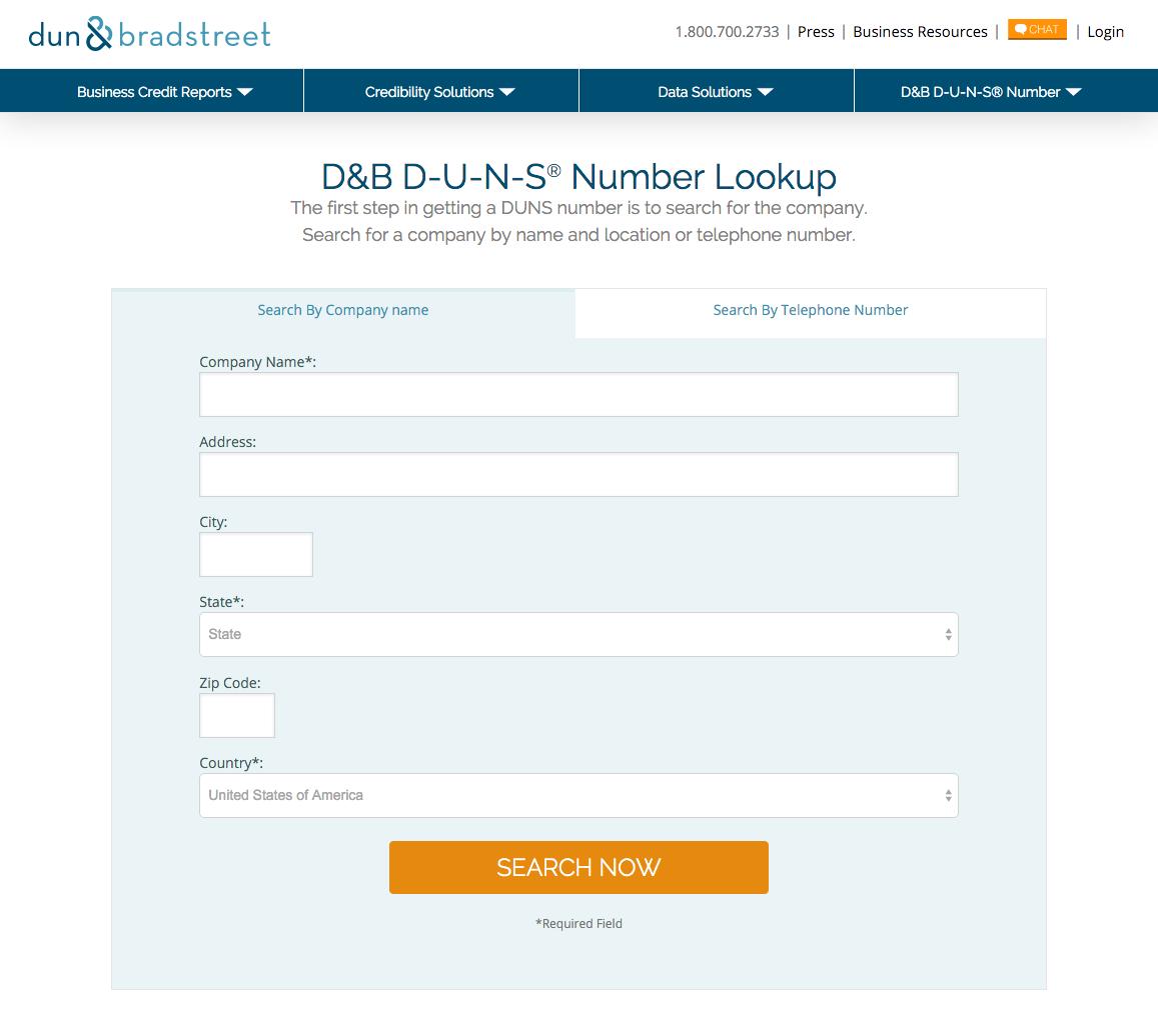 D-U-N-S Number Lookup