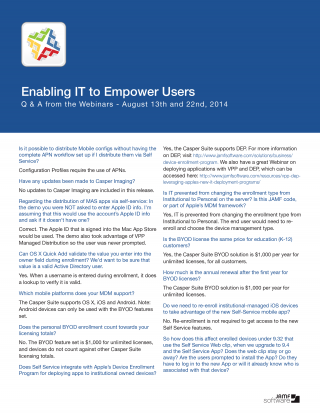 Q&A image for Enabling IT to Empower Users Webinar