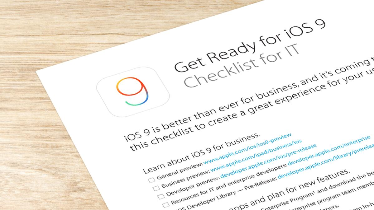 Learn how to upgrade seamlessly to iOS 9 by using Apple's checklist and the Casper Suite.